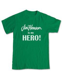 JIM HENSON is my Hero T-Shirt - Muppets Kermit the Frog Miss Piggy Animal Beeker Fozzie Rowlf Pepe Muppet Show Tribute Tee Men Women Kids on Etsy, $13.97