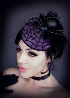 BLACK WIDOW Spider Hat. $75.00, via Etsy.