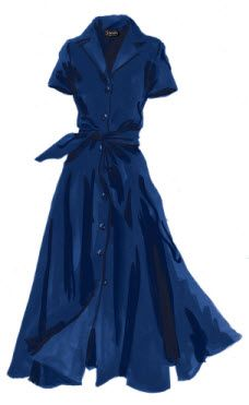 1947 Dress - French Blue