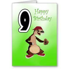 Happy Birthday 9 Card