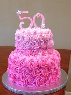 Pink rosette cake                                                       …
