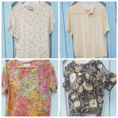 Lovely flowy vintage tops for your summer/spring wardrobe More tops coming this week 👕💟