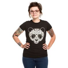Love this majorly-Love Pandas anyways but in love big time!!!Panda Tee Women's Black, $16.50, now featured on Fab.