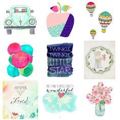 51 Free Printables for Kids' Rooms – Nursery Decor Series – diy kid room decor Art Wall Kids, Diy Wall Art, Diy Wall Decor, Nursery Decor, Free Printable Art, Free Printables, Playroom Printables, Muñeca Diy, Diy Crafts