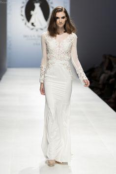 Modern Long Sleeve Wedding Dress (#SS16101) - Dream Dresses by P.M.N  - 2