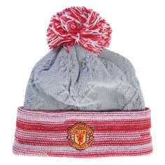 Manchester United Women's Crown Beanie - Christmas gift and stocking stuffer ideas for the Manchester United Fan at WorldSoccershop.com  