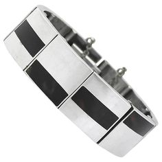 Antonio Pineda Sterling Silver Link Bracelet | From a unique collection of vintage link bracelets at https://www.1stdibs.com/jewelry/bracelets/link-bracelets/ 2900