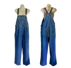 Women Denim Overall 90s Tommy Hilfiger by #ShineBrightVintage