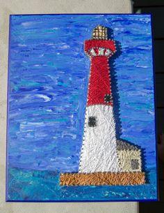 String Art Barnegat Lighthouse Custom by LeynaRosePhotography