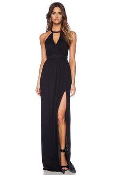 Black Prom Dresses,slit Prom Dress,Sexy Evening Dress,black prom gowns,chiffon prom dresses