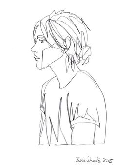 "borisschmitz:  ""Gaze 194"", one-continuous-line-drawing by Boris Schmitz, 2015 » click here for my portfolio «"