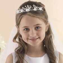 Image result for first holy communion hairstyles tiara
