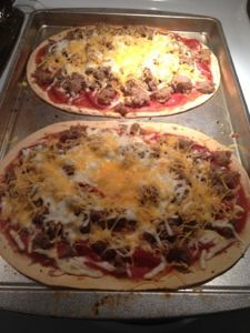 Homemade Pizza - 6 WW points for whole pizza!!!