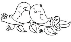 36 Trendy Cute Bird Doodle Coloring Pages Coloring Pages For Girls, Cartoon Coloring Pages, Coloring Pages To Print, Free Printable Coloring Pages, Coloring Books, Love Birds Drawing, Bird Drawings, Easy Drawings, Bird Outline