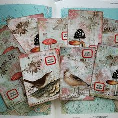 Postcards ready to fly out. This is my first time playing along with @ihannas DIY Postcard Swap. I can't wait to see where my cards will be coming from! #diypostcardswap #happymail #postcards #mixedmedia