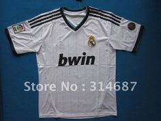 wholesale 12/13 TOP Thailand quality Real Madrid home withe soccer jerseys,Soccer tops,embroidered logo,Dry-Fit on AliExpress.com. $95.00