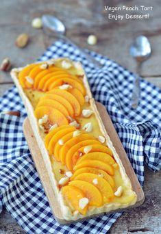 Sweet Pie, Easy Desserts, Peach, Ice Cream, Sweets, Vegan, Baking, Cake, Ethnic Recipes