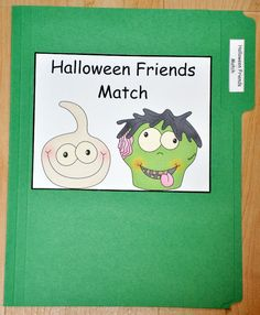 the halloween friends match file folder game is a halloween themed activity in this file - Halloween File Folder Games