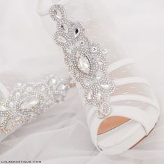 Go All Out #lolashoetique #bride #heels #sotd #heels #highheels #shoes #ido #bridal #style #bejeweled #embellishment #sheer #platform