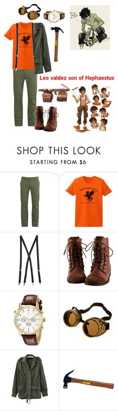 """""""Leo valdez son of Hephaestus"""" by gglloyd ❤ liked on Polyvore featuring Marc by Marc Jacobs, Forever 21 and Tommy Hilfiger"""