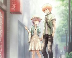 otonashi and tenshi in an other life