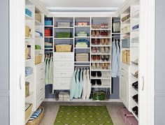 .: a big, spiffy, organized closet