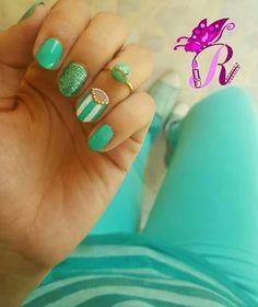 هذه #أظافر اليوم  Another look at my Studded Half Moon Mint and White Nails using Mukka 17 matching my #OOTD #rebeccanakhle #nails #nailpolish #notd #mani #manicure #nailart #naildesign #instanails #nailaddict #nailartwow #nailartvillage #nailitdaily #vegas_nay #nails2inspire #thenailartstory #unas #vernis #oje #nailporn #doubletab #showmynails #mintnails #jbeil #byblos #lebanon #turkey #istanbul
