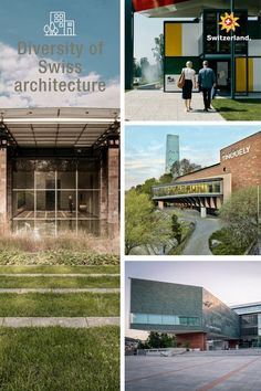 Ancient and contemporary architecture combined in Switzerland Switzerland Tourism, Contemporary Architecture, Ancient Architecture, Outdoor Venues, Modern Buildings, Small Gardens, Growing Plants, Ecology, Indoor Garden