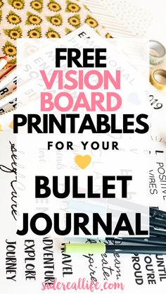 Vision Board For Bullet Journals Find out how to create a vision board for your bullet journal! Use these free printables to decorate your planner and visualize your goals & aspirations by creating a vision board. Bullet Journal Vision Board, Bullet Journal Inspiration, Natural Sleep Remedies, Cold Home Remedies, Natural Cures, Natural Skin, Goal Board, Creating A Vision Board, Thing 1
