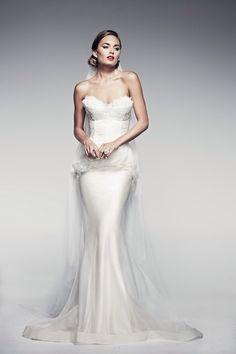 Pallas Couture| 25 Pretty Perfect Peplum Wedding Dresses