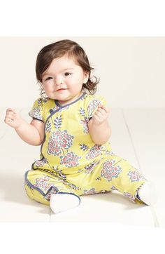 Tea Collection 'Chrysanthemum' Coveralls (Baby Girls)   Nordstrom