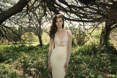 Vered Vaknin, wedding dress, long sleeves bridal gown, illusion sleeves, deep v-neck dress, sexy wedding dress, bride inspiration