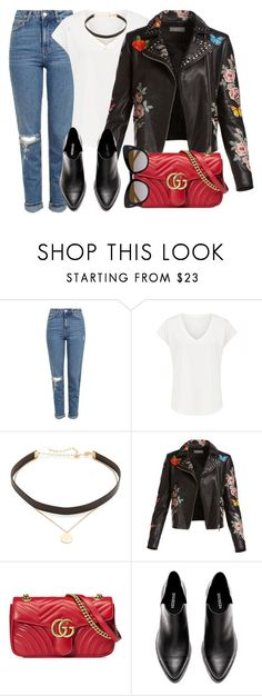 """""""Milano"""" by monmondefou ❤ liked on Polyvore featuring Topshop, Jennifer Zeuner, Bagatelle, Gucci, STELLA McCARTNEY, black and red"""