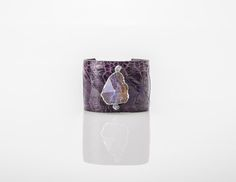 CUFF,PURPLE OSTRICH Bangles, Bracelets, Cuffs, Vase, Purple, Jewelry, Decor, Bangle Bracelets, Bangle Bracelets