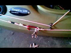 Kayak anchor trolley system - YouTube