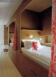 Beds in Swedish summer house - by Sandell Sandberg