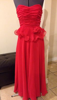 Vintage 1980's Cocktail Party Prom Dress Carrie Bradshaw Fashion Icon