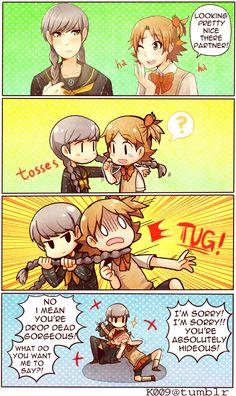 Narukami and Yosuke become girl? 0.0lll