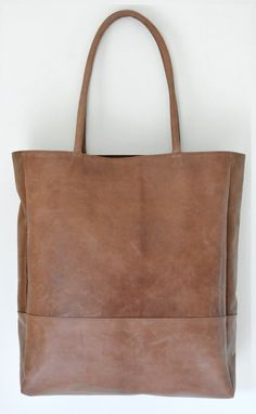 INGENUE. Leather shoulder bag. via Etsy. ELF handmade