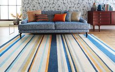 Barcode Petrol Large Rug rug by Harlequin