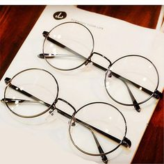 Retro Clear Lens Round Frame Glasses