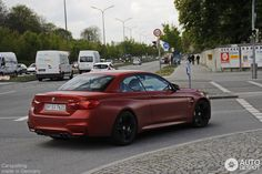 Amazing Looking Frozen Red BMW M4 Convertible