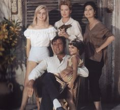 The stars of The Night of the Iguana (1963) along with little Liza Todd