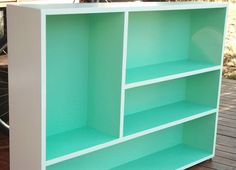 Because painting the inside of a bookshelf my favorite color would add a nice pop to a room