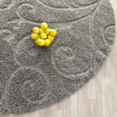 @Overstock - This power-loomed shag rug offers luxurious comfort and unique styling with a raised high-low pile. High-density polypropylene pile features a grey backgroundhttp://www.overstock.com/Home-Garden/Ultimate-Dark-Grey-Shag-Rug-4-Round/6673465/product.html?CID=214117 $61.99
