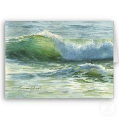 Wave watercolor