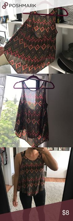 O'Neill Crop tank EUC. Size S- no tags. High low style. Cool/thin material, but not see through when worn. O'Neill Tops Crop Tops