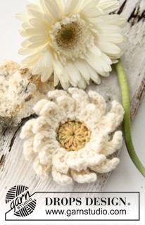 """Gehaakte DROPS bloemen: Gerbera van """"Paris"""". ~ DROPS Design"""