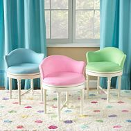 i need a sewing chair.. this looks so comfy and cute!