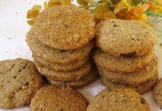 Gesztenyés-csokis korongok Poppy Cake, Muffin, Good Food, Sweets, Cookies, Baking, Eat, Breakfast, Recipes